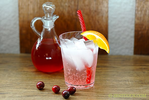 Cranberry-Orange Simple Syrup from Zestuous