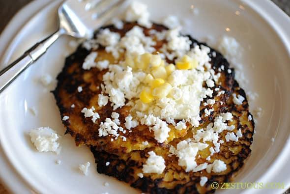 Cachapas (Corn Pancakes) from Zestuous