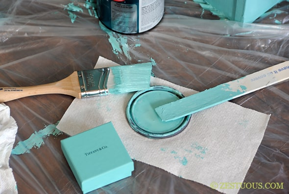 Tiffany Blue Bookshelf Zestuous