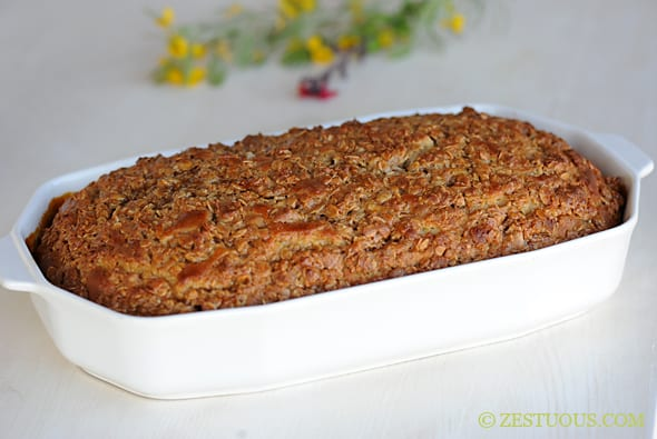 Maple Oatmeal Coffee Cake from Zestuous
