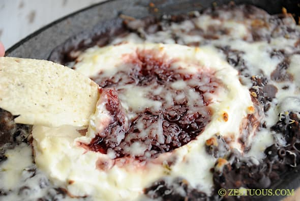 Raspberry Chipotle Black Bean Dip