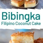 bibingka cape on a gray plate and close up
