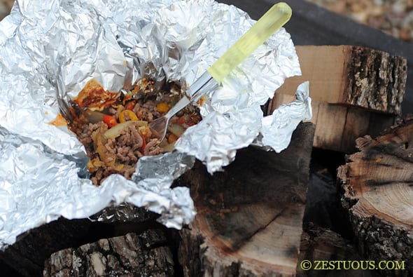 Campfire Hobo Stew from Zestuous
