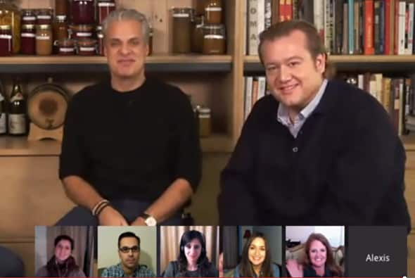 """Chefs Eric Ripert and Michael White """"Hangout"""" with Zestuous"""