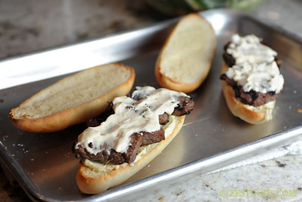 Saucy Mama Steak Sandwich