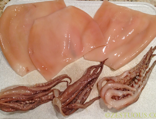 Cleaning Squid for Thanksgiving