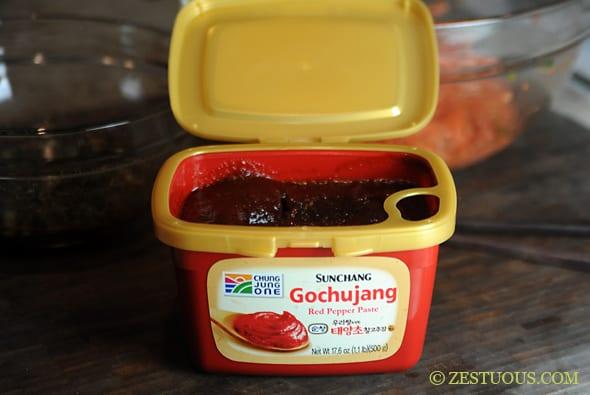 Gochujang Potstickers from Zestuous