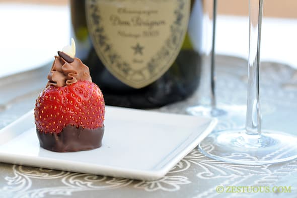 Chocolate Dipped Chocolate Cheesecake Filled Strawberries