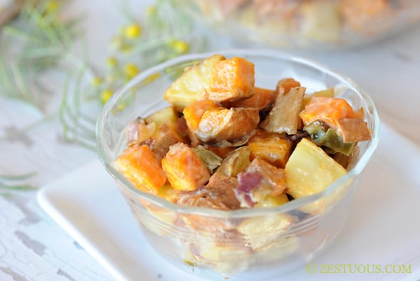 Roasted Sweet Potato Salad from Zestuous