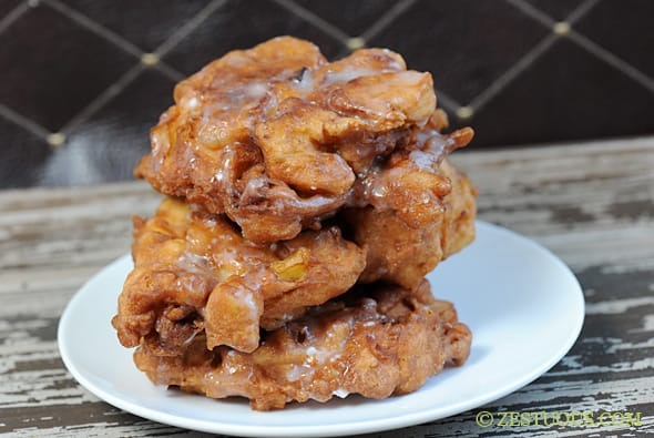 Bacon Apple Fritters from Zestuous