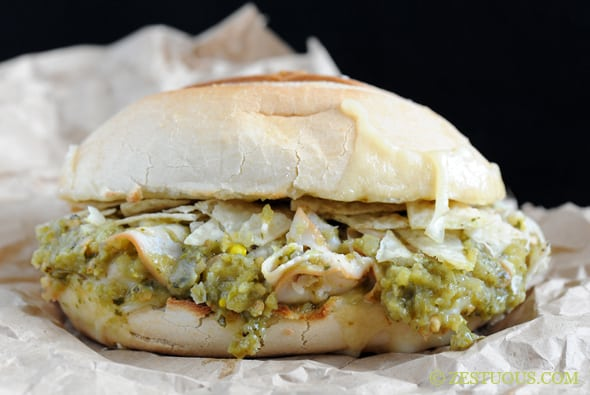 Green Chili Turkey Enchilada Sandwich