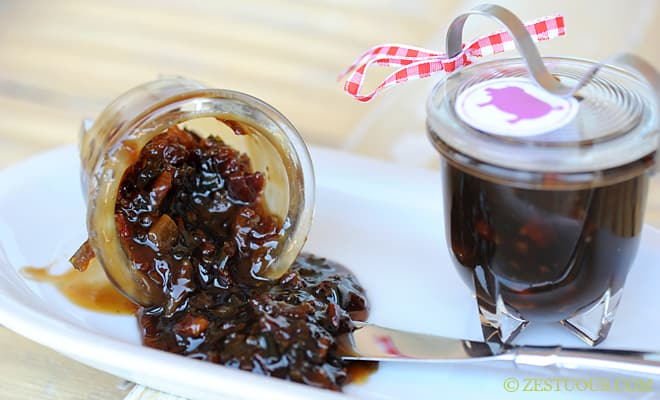 Apple Ale Bacon Jam from Zestuous