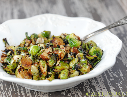 Charred Brussels Sprouts with Almonds