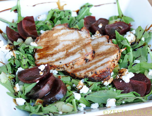 Grilled Garlic Pork Loin Salad